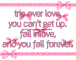 you fall forever