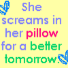 She Screams in her Pillow