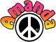 Amanda peace sign