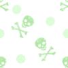 Green emo skulls